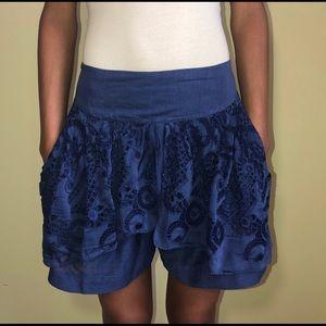 Anthropologie Leifnotes blue shorts, size 6